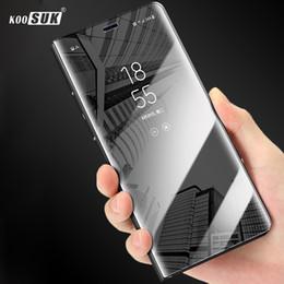 Casos de asus zenfone online-Para ASUS Zenfone Max Pro M2 Funda ZB631KL Cubierta de Lujo Flip Mirror Teléfono inteligente Volver Shell Para ASUS Max Pro M2 ZB631KL Funda Coque