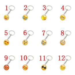 Emoji face face face Time Gem Cabochon portachiavi Ciondolo portachiavi in metallo e vetro ciondolo gioielli Europa e USA da chiavi sorridono fornitori
