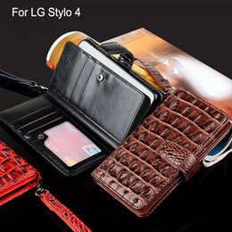 чехол для телефона флип-крокодил Скидка для LG Stylo 4 чехол Роскошный Крокодил Змеиная Кожа Флип капа Деловой стиль Кошелек телефон Чехлы для LG Stylo 4 крышка Фунда Коке
