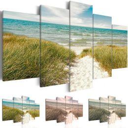 2019 tatuaggi dipinti (No Frame) Modern Scenic Beach Grassland Stampa su tela Modern Art Painting Fashion Design per la decorazione domestica, Scegli il colore