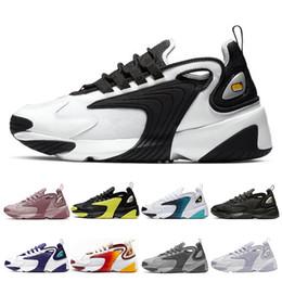 Zoom schwarz online-Nike M2K Zoom 2K Männer Frauen Laufschuhe Triple Schwarz Weiß Race Red Royal Blue Sport Sneakers Herren Trainer Größe 36-45