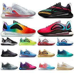 Moda atrevida online-Nike Air Max 720 Bold Branding Be True Pride Oxygen Purple Zapatos para correr para hombre Mujeres Sunset Volt Sea Forest Sunrise Entrenadores para hombre Zapatillas de deporte