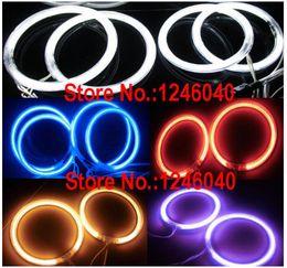 Anneaux ccfl en Ligne-4PCS CCFL ange yeux halo anneaux avec 2pcs inverseurs pour voiture taille de moto 60/72/80/85/90/94/100/106/110/115/120/126/140 / 145MM