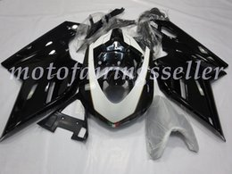 2019 carenagem 848 branco 3 Presentes Injection Mold Novas ABS da motocicleta Carenagens Kits Fit For Ducati 848 1098 1198 (07 08 09 10 11 12) definir carroçaria Gloss Black and White desconto carenagem 848 branco