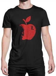 "death note l Coupons - shirt Unisex ""Death Note Shinigami Apple DN001"" maglietta Funny 100% Cotton T Shirt Trump Sweat Sporter T-shirt"