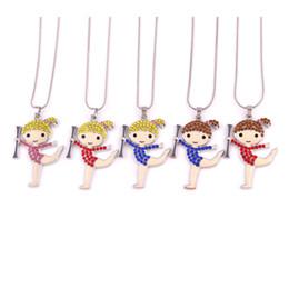 Huilin all'ingrosso catena multicolore spuntino collane nero e carino ragazza ginnastica ritmica collana con gioielli per la fidanzata per regalo da