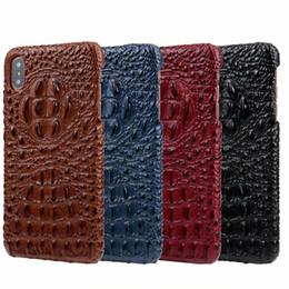 Custodia in pelle di coccodrillo con motivo di moda per iPhone X XS Max XR Custodia in rilievo di lusso con telefono per Huawei Mate 20 20 Mate Mate RS cheap huawei back covers da copertine posteriori huawei fornitori