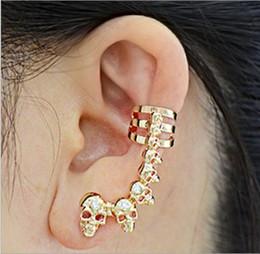 Personnalité simple métal placage argent or Halloween squelette tête crochet d'oreille pour les femmes bijoux de mode cadeau ? partir de fabricateur