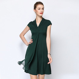 Women's Clothing Nice Silk Plus Size Summer Dress Rockabilly Women S Sexy Club Retro Beach Boho Banquet Dresses 2019 Green Flower Half Sleeve