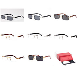91c8839e72 Rimless Sunglasses Wood Buffalo Horn Optical Frame Square Eyeglasses  Clearly Eyewear Outlet Gafas De Sol Sports Snow Goggles C10