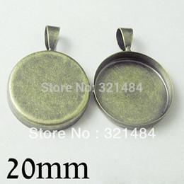 2020 camafeu de latão bandeja redonda pingente moldura antiga bronze 100pc para configuração da base cameo cabochão em branco jóias 20 milímetros camafeu de latão barato