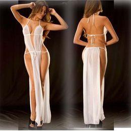 2019 peignoirs de filles sexy Luxe Mesdames Lingerie Sexy Set Sexy Pyjama Designer dentelle Backless Robe Accueil Français Date Robe romantique Backless robe