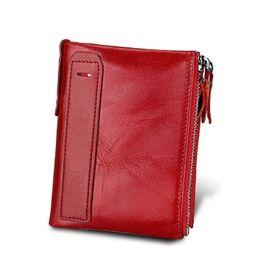 Девочки маленькие мешки денег онлайн-Натуральная кожа женщины кошелек кошелек женский маленький Rfid кошелек леди кошельки для девочек сумка для денег