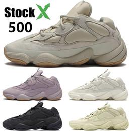 kanye désert ouest rat 500 os en pierre tendre Vision blush blanc sel noir utilité chaussures de course hommes femmes chaussures de sport de marque de
