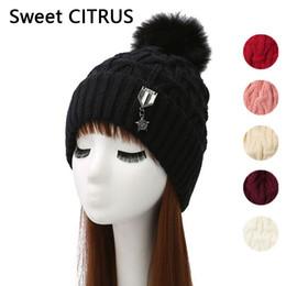 Sweet CITRUS 2018 New Fashion Causal coréen tricoté chapeau laine pompon chapeau automne hiver Cachemire chaud Beanie Skullies Beanies ? partir de fabricateur
