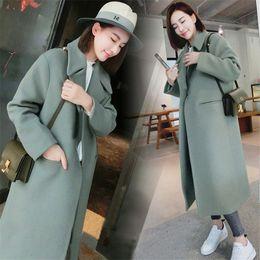 cappotto di poncho grigio Sconti Donna cappotti invernali 2019 donne Poncho coreana Cappotto caldo causale lungo cappotto sottile addensare Plus Size lungo grigio