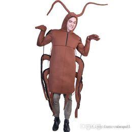 mascota galleta Rebajas Cospaly divertido diseño en trajes de la mascota de la comida rápida Festival de Moda Unisex Estilo fresco ropa ocasional Cucaracha Impresión de Halloween