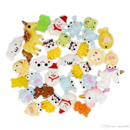 30 piezas de diseño de mezcla de postre helado de resina de espalda plana cabujón fuente de arte decoración encanto artesanía desde fabricantes