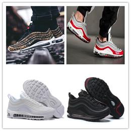 boas guias Desconto NIKE Air max 97 2019 sapatos de grife 7 ter um bom dia tênis SE GS Metálico de Ouro Bala de Prata Aba Homens Mulheres Sapatos Sneakers 5-11 T6