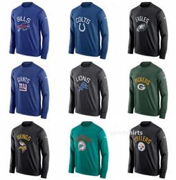 4fb8c64b9 2019 adler hoodies Männer Eagles Steelers Colts Giants Lions Packers  Sideline Circuit Leistung Sweatshirt Hoodies adler