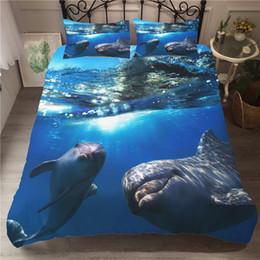 Ein Bettwäsche Set 3D Gedruckt Bettbezug Bett Set Sea Dolphin Heimtextilien für Erwachsene Bettwäsche mit Kissenbezug # HT04 von Fabrikanten