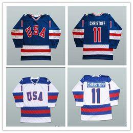 2019 team usa hockey jerseys Das Wunder 1980 der kundenspezifischen XS-5XL Männer auf Eis-Team USA Steve Christoff 11 Hockey Jersey geben Verschiffen frei günstig team usa hockey jerseys