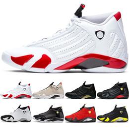 2019 süßigkeiten zehen 2019 14er Candy Cane Basketballschuhe The Last Shot 14 Athletic Sports Sneakers Wüstensand Red Thunder Black Toe DMP Indiglo rabatt süßigkeiten zehen