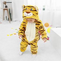 weiche körper tiere Rabatt Tiger Für Baby Kinder Kinder Cartoon Tier Cosplay Kostüm Warme Weiche Flanell Phantasie Winter Onesie Niedlichen Pyjama Body Suit