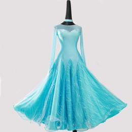 vestidos para bailes estandar Rebajas Vestido de baile de salón para las mujeres Vestidos de competencia de alta calidad Moderno Waltz Tango Estándar Traje de salón rosa LXT536