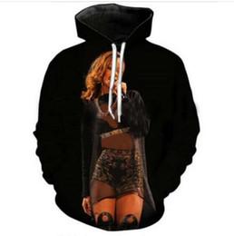 Rihanna 3d sweatshirt on-line-Nova Moda Homens / Mulheres Casais Rihanna Engraçado 3d Camisolas Hoodies Outono Inverno Casual Impressão Com Capuz Pullovers Tops HP029