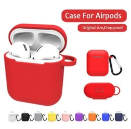 Apple Airpods için yumuşak Silikon Kılıf Hava Pod Kulaklık Koruyucu Kapak iphone Kulaklık Aksesuarla için Darbeye Su Geçirmez nereden dizüstü bilgisayarlar için sabit diskler tedarikçiler