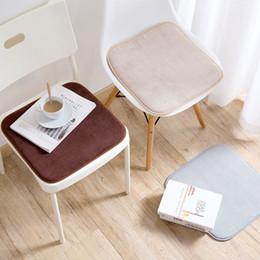 Wholesale 1 Coral Velvet verdicken Dining Chair Auto Kissen Plaid Kinder Antiskid nette warme Schwammkissen Dekor Cojines almofada