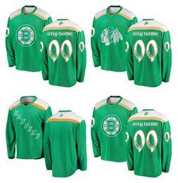 2019 зеленый День Святого Патрика пользовательские НХЛ Нью-Йорк Рейнджерс Джерси Бостон Брюинз Чикаго Блэкхокс любая команда номер название Хоккей Джерси cheap green rangers hockey jersey от Поставщики зеленые рейнджеры хоккейные джерси