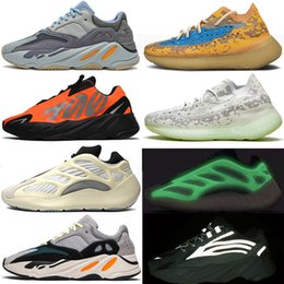 2021 scarpe da ginnastica adidas yeezy boost 700 v3 380 mnvn kanye west Running Shoes Azael Alvah Skeleton scarpe da uomo donna firmate Alien Mist   v2 Runner Trainer Men Women Luxury Designer Sneakers