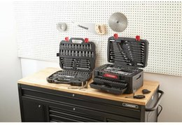 Herramientas de taller online-Juego de herramientas mecánicas de 268 piezas Metric SAE Durable Shop Llaves Zócalos de punta Husky