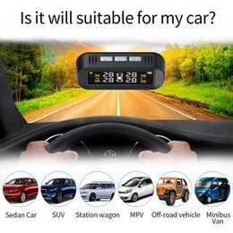 Sonnenstimme online-Solar Voice Tire Pressure Monitoring System Detection Tool Sticky Glass Compact Built-In  External Tire Pressure Detector