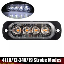 2021 luzes do reboque Strobe Trailer luz 4 LED Truck emergência marcador flash strobe Avisar Hazard Luz 12V-24V Side marcador Luz