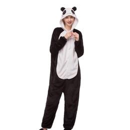 2019 grünes renaissance kleid 2018 neue Tierherbst- und -wintersaisontierbildfrauen verbundener Pyjama reizvoller Cartoonpyjamaflanellpanda onesies