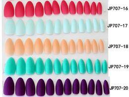 Deutschland Gefälschte Nägel 24 stücke Abnehmbare Matte Farbige Falsche Nagelspitzen Für Nagelverlängerung Maniküre DIY drücken auf Falsche Nägel Versorgung
