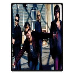 Piani in peluche online-Bon Jovi Modello Soft Plush Culla Letto Plane Sofa Throw Coperta Coral Fleece Baby Kids Bambini Coperte Copriletto