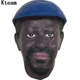 Máscara humana completa online-Máscara humana de látex realista Scary Full Head Masculino Hombre Máscaras para disfraces de Halloween Cosplay Crossdress Máscara femenina Disfraces