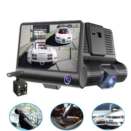 cycling records Promo Codes - Original 4'' Car DVR Camera Video Recorder Rear View Auto Registrator ith Two Cameras Dash Cam DVRS Dual Lens
