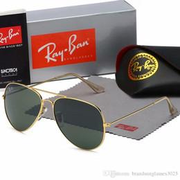 Canada EUROEN Vintage Pilot lunettes de soleil RAY 58mm Mode Hommes Femmes UV400 Band Gafas Mirror Lenses Lunettes De Soleil BANS avec étuis Offre