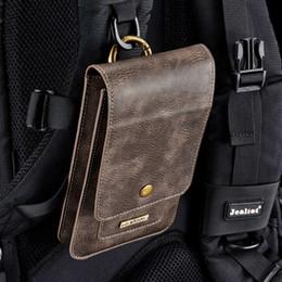 Argentina Dg.ming bolsa del teléfono universal para smartphone cuero genuino llevar cinturón clip de la bolsa monedero de la cintura cubierta de la caja para samsung huawei tan en t190710 Suministro