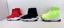 Zapato para niños, negro, rojo, verde, calcetín, bota, zapatos para niños, zapatillas deportivas, botas de fútbol de moda, EU 24-35, con caja y bolsa para el polvo. desde fabricantes