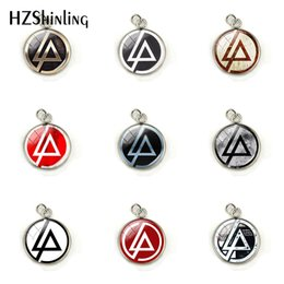 Colgante linkin park online-Nueva moda Linkin Park logo encantos de acero inoxidable Linkin Park Rock Band Butterfl cúpula de cristal collar colgantes de joyería
