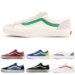 Wholesale New YACHT CLUB Vans old skool FEAR OF GOD black white MARSHMALLOW  36 DX PRIMAR men women sneakers fashion skate casual shoes d1f01154c