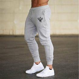 Mann trainingsanzug turnhalle online-Mens Jogger Hose Fitness Lauf Herren Sportswear Gym Trainingshose dünne Hosen Jogginghose Homme Gyms Jogger Track Pants
