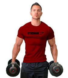 2019 Lazer Gym T-shirt dos homens do algodão Sports T-shirts de manga curta Cinzento Branco Top Tees gym roupa do esporte mangas de Fornecedores de vestido roxo longo uk