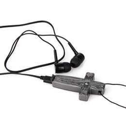 Mini Cross Wearable Mic Voice Recorder USB OTG Digital 8GB HD Riduzione del rumore Registrazione vocale Batteria incorporata Ricaricabile da